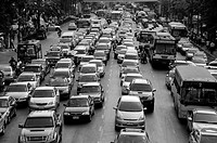 Cars in the Bangkok Rushhoure