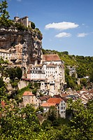 Rocamadour in the Lot Region of France, Europe