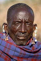 Portrait of a Maasai man, Ngogongoro conservation Area, Tanzania