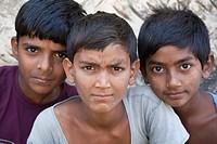 Three boys - Shyampura Village, Rajasthan, India