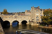 Pulteney Bridge, Bath, England, UK.
