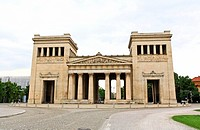 The majestic Konigsplatz square and museums in Munich