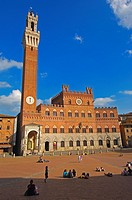 Piazza del Campo and Torre del Mangia, Siena, UNESCO World Heritage Site, Tuscany, Italy, Europe