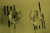 Two glasses with water