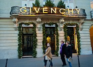 Paris, France, Luxury Christmas Shopping, Givenchy Clothing Store , Front Entrance, Avenue George V