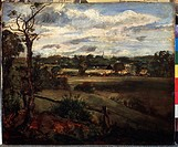 View of Highgate from Hampstead Heath. Constable, John (1776-1837). Oil on canvas. Romanticism. State A. Pushkin Museum of Fine Arts, Moscow. 24x30,5....