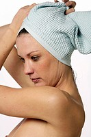hair _ woman _ towel _ nude _ naked _ to dry