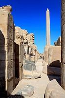 Obelisk, Amun_Re temple, Karnak, Egypt