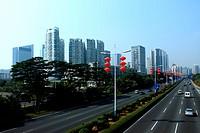 the seashore buildings in Shenzhen