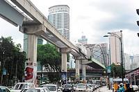 Kuala Lumpur, Malaysia _ March 17, 2011: City center of Kuala Lumpur at rush hour.