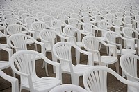a close_up view of rows of chair
