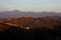 the winding Great Wall on the mountains