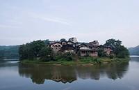 Scenry of ancient town in Jiangjintang river in Chongqing,China