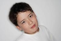 a portrait of a boy outdoor