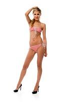 Standing woman in underwear
