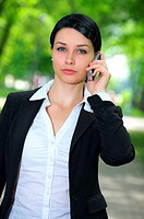 Beautiful businesswoman talking cellphone