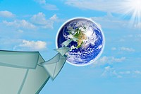 planet earth and mail the envelope