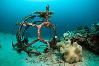 Wreckage at Ahe Housreef, Cenderawasih Bay, West Papua, Indonesia
