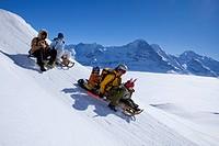Mountain, mountains, fog, winter, snow, winter sports, canton Bern, Bernese Alps, Switzerland, Europe, Bernese Oberland, decayed horn, Grindelwald, Al...
