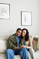 Portrait of couple at home
