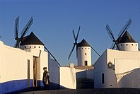 Windmills in Campo de Criptana, Province of Ciudad Real, autonomous community Castile-La Mancha, Spain, Europe