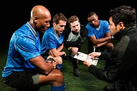 Soccer team planning game with coach