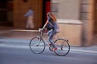 Italy, Emilia_Romagna, Bologna, Cyclist