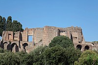 View of Roman Forum, Platine Hill, Ripa, Rome, Roma, Lazio, Italy, Europe