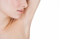 A young woman´s armpit, close_up