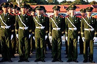 China,Beijing,Peoples´ Liberation Army PLA Soldiers at Tiananmen Square