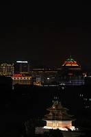 Night view of Beijing city scape at night, China