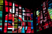 STAINED_GLASS WINDOWS BY THE MASTER GLASSMAKER INGRAND MAX, SAINT_JEAN BAPTISTE CHURCH IN RECHEVRES, CHARTRES, EURE_ET_LOIR 28, FRANCE