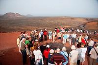 Timanfaya Volcanoe National Park in Lanzarote, Canary Islands, Spain