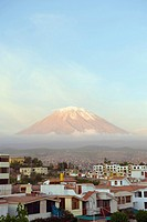 El Misti volcano, 5822m, above city, Arequipa, Peru, South America