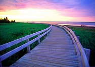 a boardwalk at Kelly´s Beach Kouchibouguac National Park New Brunswick Canada