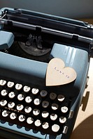 Heart With Typewriter