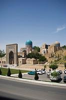 Shakhi Zinda mausoleum in Samarkand UZBEKISTAN.