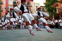 "-Traditional ""Vascos"" Dancers- Spain."