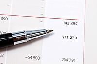 Closeup of a financial report