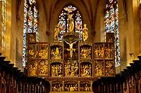 Alter of Sainte Croix Church, Kaysersberg Alsace Haut-Rhin France