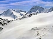 The snow covered Otztaler Alps, Austria ANP COPYRIGHT RONALD NAAR