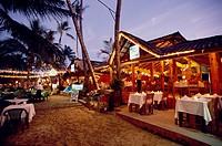 Restaurant on the beach of Cabarete, Dominican Republic, Caribbean