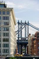 Manhattan Bridge, Brooklyn Heights, New York, USA