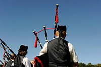Bagpiper, Pitlochry Highland Games 9/2009, Pitlochry, Tayside, Scotland, Great Britain / Dudelsackpfeifer, Pitlochry Highland Games 9/2009, Pitlochry,...