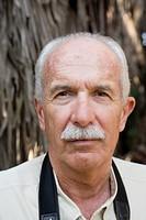 Balding Eldery Man With Moustache, Portrait