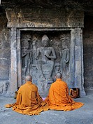 Monks praying Ajanta Caves