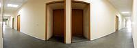 Office corridor panorama 2