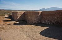 a wall at los millares, almeria andalusia spain