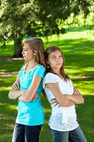 two sisters disagreeing, edmonton alberta canada