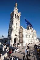 notre dame de la garde, basilica, marseille, provence, france, europe